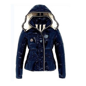 DG8326 Moncler Quincy Donna Giacca in nylon blu [3676]